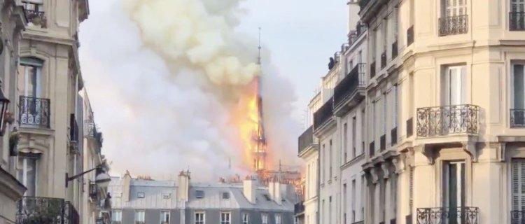 Mezquita en Jerusalén se incendia al mismo tiempo que Notre Dame