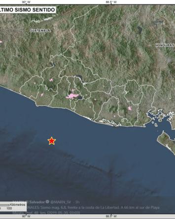 Alerta de tsunami tras sismo de 6.8 en El Salvador