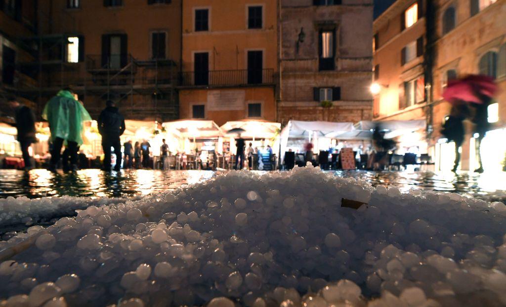 granizo en italia