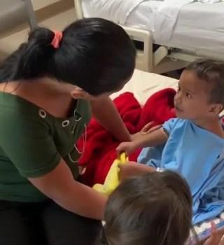 Piden ayuda para niño migrante con cáncer en los ojos