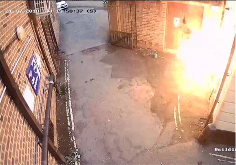 incendio en sinagoga