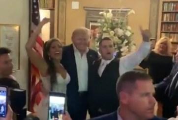 trump en boda