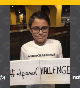 Niño crea el #ElPasoChallenge para ayudar a su comunidad tras tiroteo