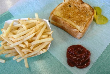 fries and bread