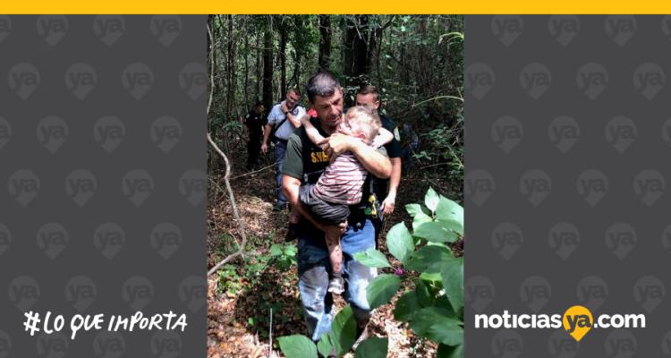 Menor con autismo desaparece en bosque y es encontrado por sabuesos