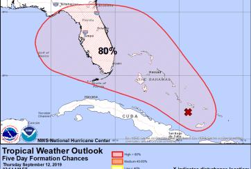 Florida y Bahamas ya están en alerta por la tormenta tropical Humberto