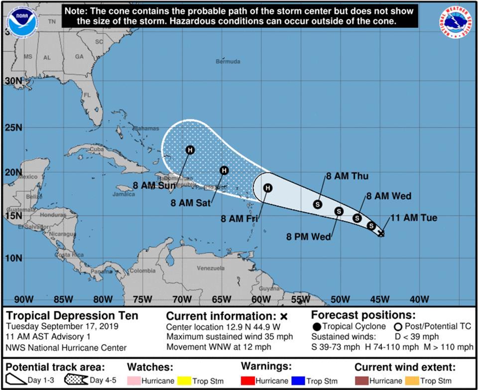 depresión tropical imelda