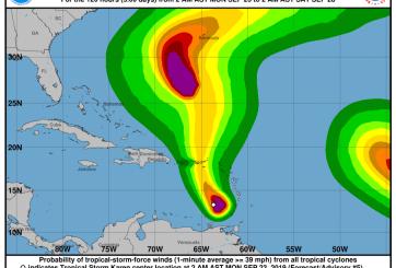 Puerto Rico y las Islas Vírgenes, bajo alerta por tormenta Karen