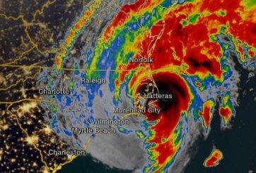 Huracán Dorian toca tierra como cat 1 en Carolina del Norte