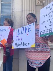 Protestantes en Bwonsville.