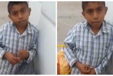 VIDEO: Se quedó huérfano y vende chicharrones para pagar sus útiles
