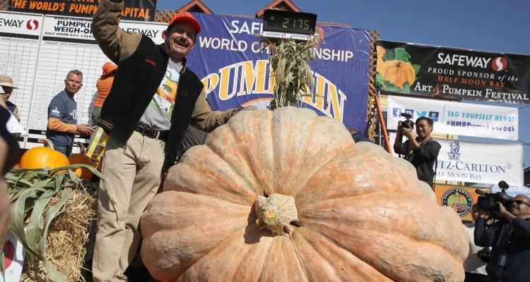 Impresionante calabaza de casi una tonelada gana concurso en California
