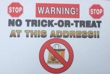 Delincuentes sexuales vs alguacil por advertencias para Halloween