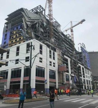 Aparatoso colapso de Hotel Hard Rock en Nueva Orleans deja 3 muertos