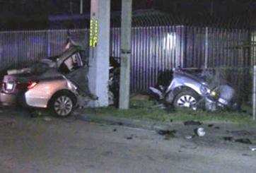 Hombre muere tras accidente que dividió carro en dos partes