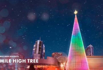 Árbol digital más grande del país en Denver por temporada navideña