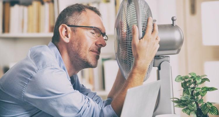 hombre con calor
