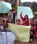 manifestación de niños