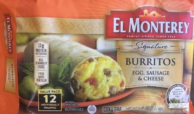 Retiran burritos «El Monterey» contaminados con materiales extraños