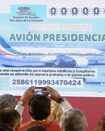 AMLO confirma rifa de avión y 100 premios de 20 millones de pesos