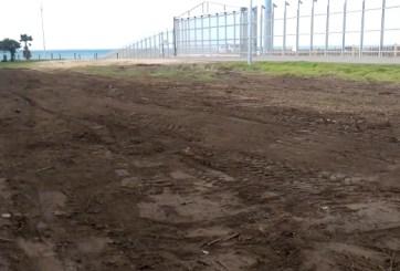 Patrulla fronteriza desmantela Jardín Binacional de lado estadounidense