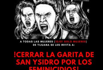 Marcha feminista cerrará acceso a la garita de San Ysidro