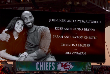 VIDEO: Rinden honor a Kobe Bryant y su hija Gianna en el Super Bowl