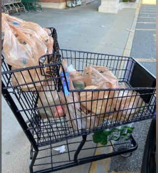 Policía compró víveres para anciana en aislamiento que no tenía comida