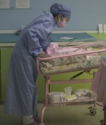 enfermera bebé