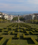 View to the river from the top of Parque Eduardo VII, a favorite spot for tourists