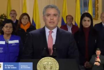 Colombia declara cuarentena nacional de 19 días