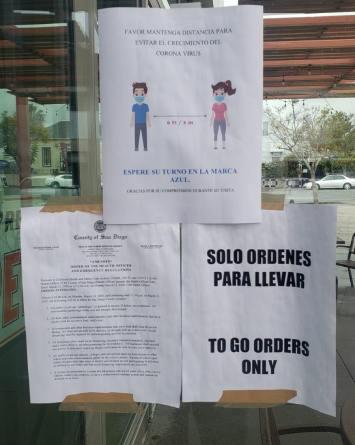 FOTOS:Empresas de San Diego tendrán pautas ante COVID-19 en sus entradas