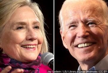 Hillary Clinton brinda su apoyo a Joe Biden