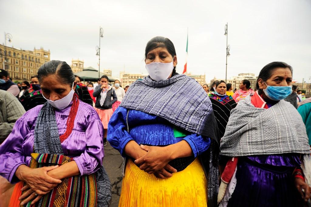 Indigenas en Mexico protestan por pandemia