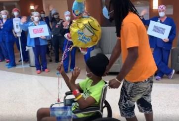 VIDEO: Niño es despedido de hospital entre aplausos tras vencer COVID-19