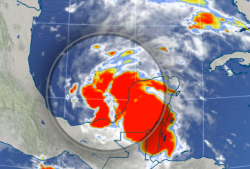 Alertan por tormenta tropical 'Cristóbal' que está azotando al Golfo
