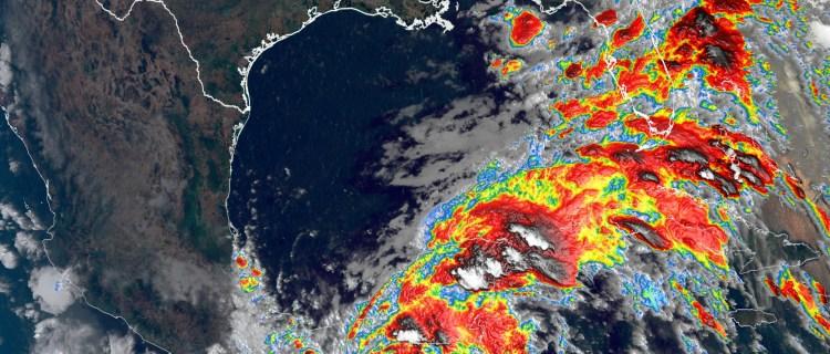 Emiten advertencia de tormenta tropical y marejada en el Golfo de México