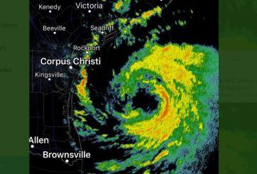 Hanna se convierte en huracán y sigue su camino hacia Texas