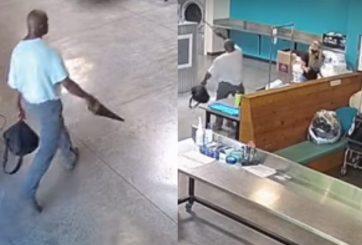 VIDEO: Hombre atacó a dos personas con una sierra en una lavandería