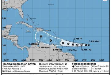 Se forma la tormenta tropical Gonzalo en el Océano Atlántico