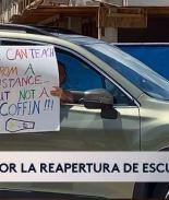 Maestros protestan tras negativa de regreso a clases en agosto