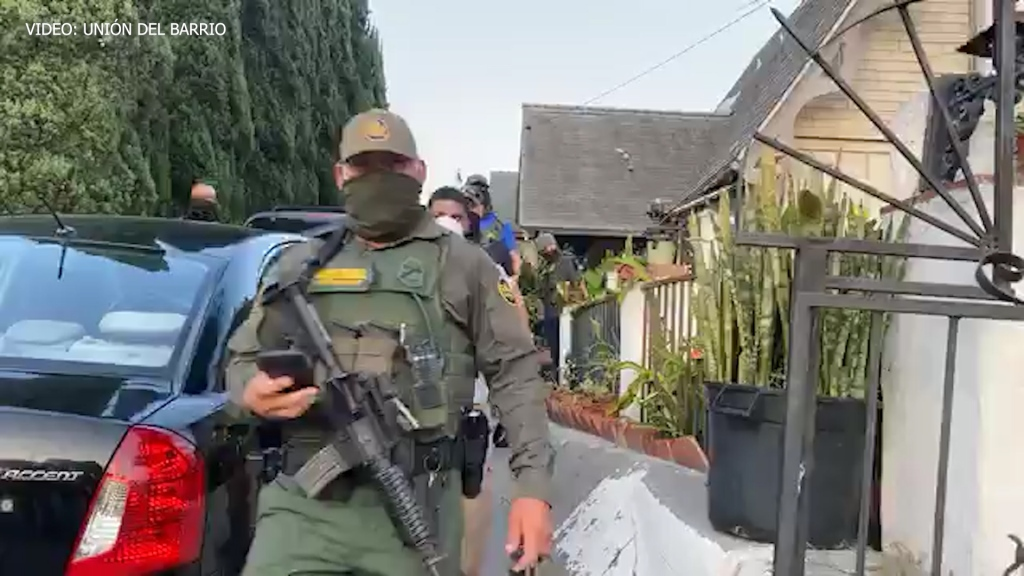 Operativo de Patrulla Fronteriza en Sherman Heights