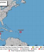 Centro Nacional de Huracanes rastrea dos sistemas tropicales en el Golfo