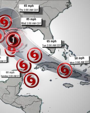 Marco es ahora huracán y la costa del Golfo se prepara para 2 ciclones