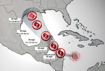 Depresión Tropical 14 podría abatir Texas en el aniversario de Harvey