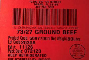 Retiran más de 38 mil libras de carne molida potencialmente peligrosa