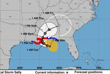 Tormenta Tropical Sally llegaría a New Orleans como huracán categoría 2