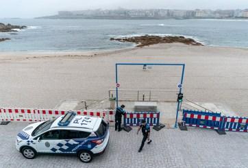 policía playa españa