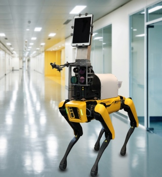 "Perro robot ""enfermero"" llegó para proteger a los médicos del COVID-19"