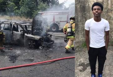 Rinden tributo a joven que salvó a madre y sus hijos de auto en llamas